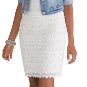 NWT White House Black Market Tiered Lace Skirt- 12